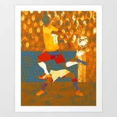 Soccer game. Art Print