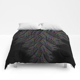 Dark Textured Pattern Comforters