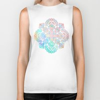 boho Biker Tanks featuring Boho Intense by micklyn