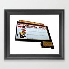 Friendly Duck Framed Art Print