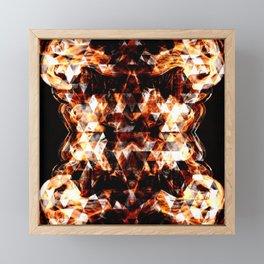 Electrifying orange sparkly triangle fire flames Framed Mini Art Print