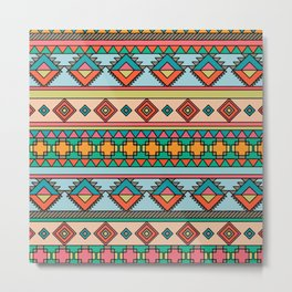 African Tribal Pattern Metal Print