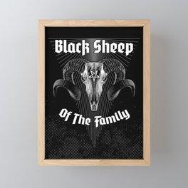 Black Sheep Of The Family Framed Mini Art Print