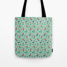 blossom ditsy in grayed jade Tote Bag
