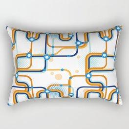 A subway map. Seamless pattern. Vector illustration. Rectangular Pillow