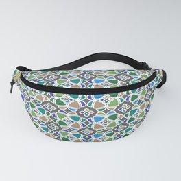Moroccan Ceramic Tiles Mosaic Fanny Pack