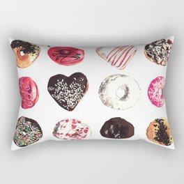 Assorted Donuts Valentine's Day Krispy Kreme Sprinkles Hearts Rectangular Pillow