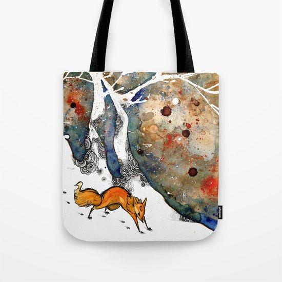 The Winter Fox Tote Bag
