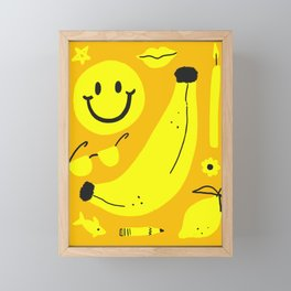 Yellow Framed Mini Art Print