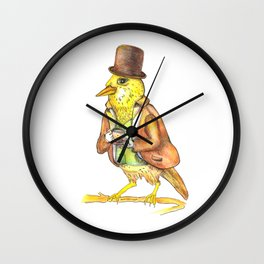 Mr. Bird Wall Clock