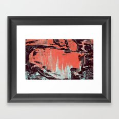 Low Paint Relief Framed Art Print