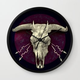 Beelzebub - devilish hybrid creature skull Wall Clock