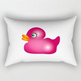 Pink Rubber Duck Toy Rectangular Pillow