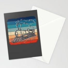 Retro Train Lover Tshirt Trainspotting Vintage Train Stationery Cards