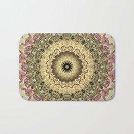 Vintage Gold Pink Mandala Design Badematte