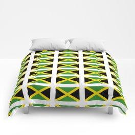 Flag of Jamaica 2-Jamaican,Bob Marley,Reggae,rastafari,cannabis,ganja,america,south america,ragga Comforters