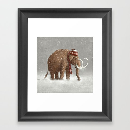 The Ice Age Sucked  Framed Art Print