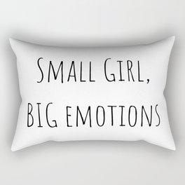 Small girl, BIG emotions Rectangular Pillow