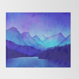 Cerulean Blue Mountains Throw Blanket