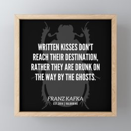 46 |  Franz Kafka Quotes | 190517 Framed Mini Art Print