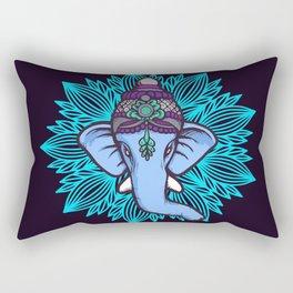 Wise Elephant Ganesha Mandala Rectangular Pillow