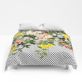 Points and Flowers Pattern Comforters