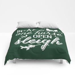 One Horse Open Sleigh Comforters