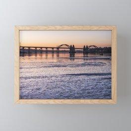 Siuslaw River Bridge at Dusk Framed Mini Art Print