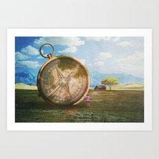 The Giant Compass Art Print