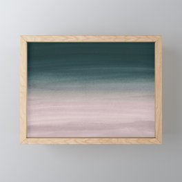 Touching Teal Blush Watercolor Abstract #1 #painting #decor #art #society6 Framed Mini Art Print