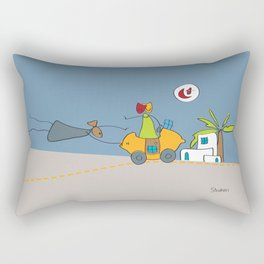 En route vers Tunis   Road to Tunis Rectangular Pillow