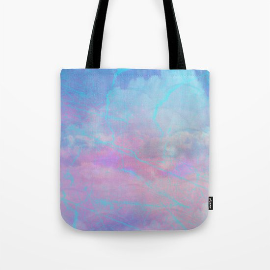Marble Sky Abstract Tote Bag