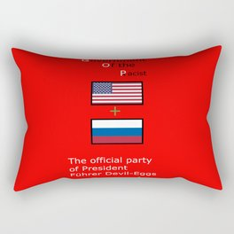 G. O. P. with President Führer Devil-Eggs Rectangular Pillow