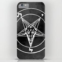 Satanic Pentagram - Black Watercolor iPhone Case