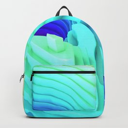 Abstract Mountain Landscape Surface Rim Backpack