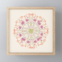 Floral endeavour- Mandala Framed Mini Art Print