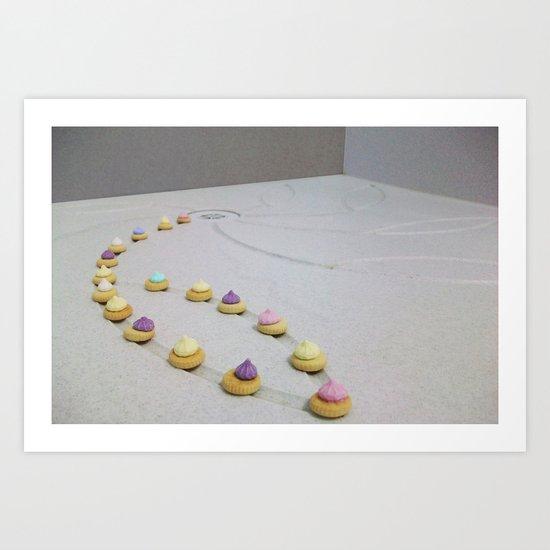 Shower Gems Art Print