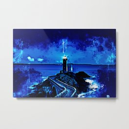 lighthouse plouzane wsstd Metal Print