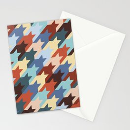 Colored houndstooth Stationery Cards