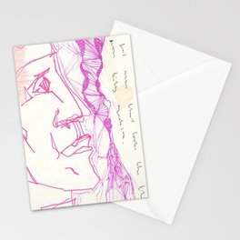 pink papi and your boy has a jawline for days Stationery Cards