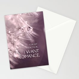 Forget practical. I want ROMANCE.  Stationery Cards
