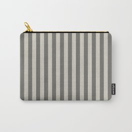 Wolf Gray Stripes Pattern Carry-All Pouch