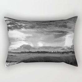 hurricane storm landscape digital oil painting akvop bw Rectangular Pillow