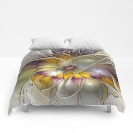 Abstract Fantasy Flower Fractal Art Comforters