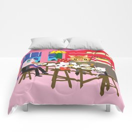 fashionista cats sweets Comforters