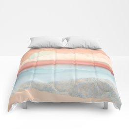 Mint Moon Beach Comforters
