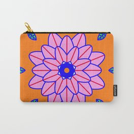 Flower Power Orange Vibes Carry-All Pouch