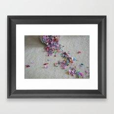 hashtag confetti Framed Art Print