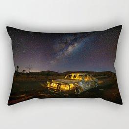 Burnt Truck Under Australian Milky Way Rectangular Pillow