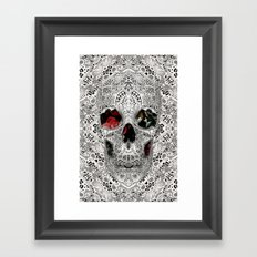 Lace Skull Light Framed Art Print